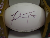 PATRIOTS - FRED TAYLOR SIGNED PANEL BALL