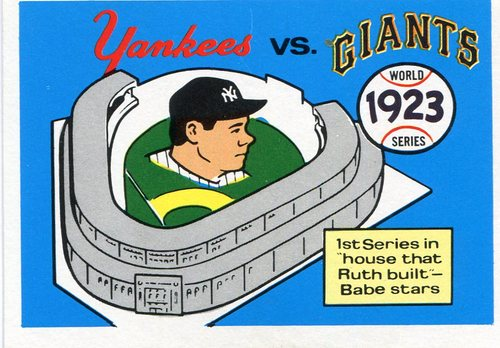 Photo of 1970 Fleer Laughlin World Series Blue Backs #20 1923 Yankees/Giants/(Babe Ruth)