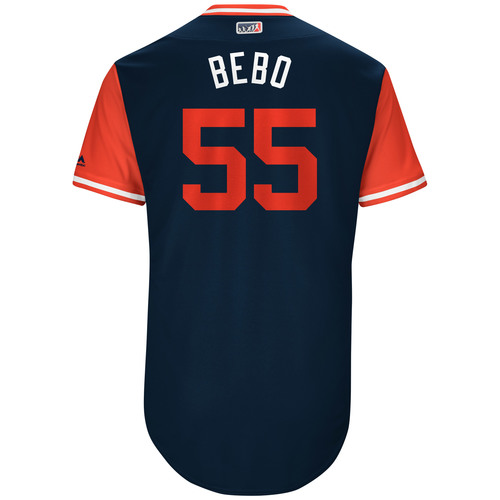 """Photo of Roberto """"Bebo """"Perez Cleveland Indians Game-Used Players Weekend Jersey"""