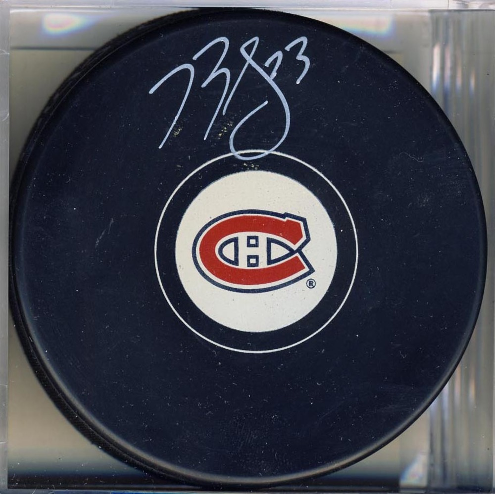 Brendan Gallagher Autographed Montreal Canadiens Rookie Year Hockey Puck