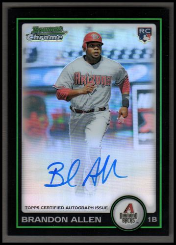 Photo of 2010 Bowman Chrome Refractors #213A Brandon Allen AU