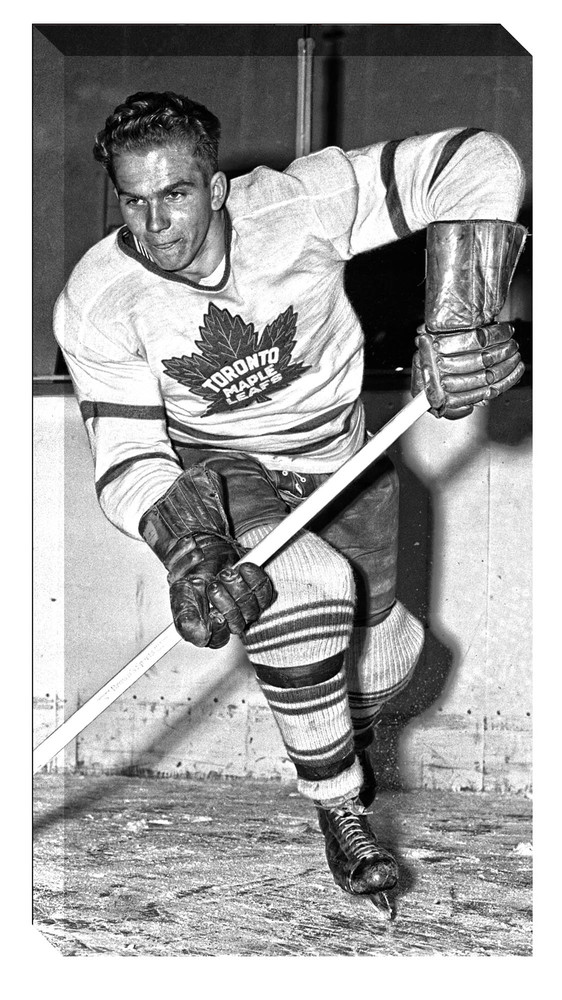 Barilko,B Unsigned 7x14 Canvas Toronto Maple Leafs