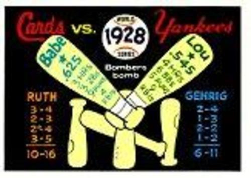 Photo of 1970 Fleer Laughlin World Series Blue Backs #25 1928 Yankees/Cardinals/(Babe Ruth/and Lou Gehrig