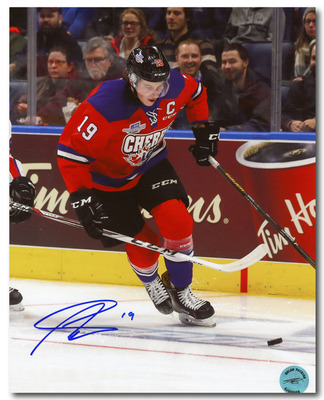 Nolan Patrick Team Cherry Autographed CHL Hockey Prospects Game 8x10 Photo *Brandon Wheat Kings*