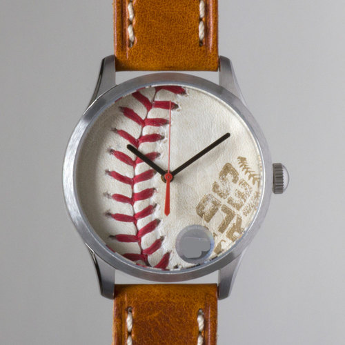 Tokens & Icons Chicago Cubs 2016 World Series Game-Used Baseball Watch