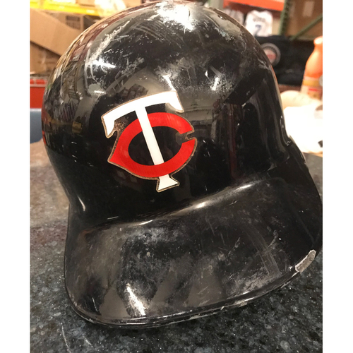 2017 Game-Used Helmet - Jorge Polanco right ear flap