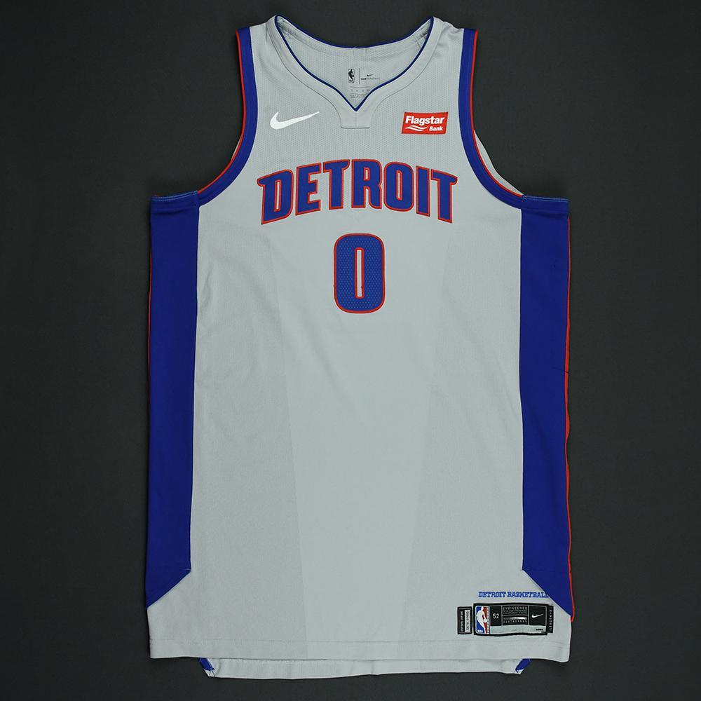 Andre Drummond - Detroit Pistons - Statement Game-Worn 1st Half Only Jersey  - 2017-18 Season - Double-Double