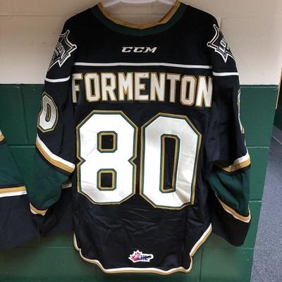 Alex Formenton 2016-2017 Black Game Jersey