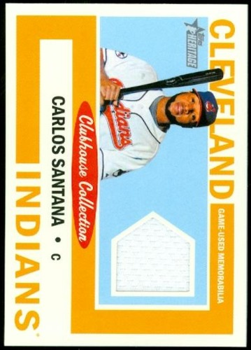 Photo of 2013 Topps Heritage Clubhouse Collection Relics #CS Carlos Santana