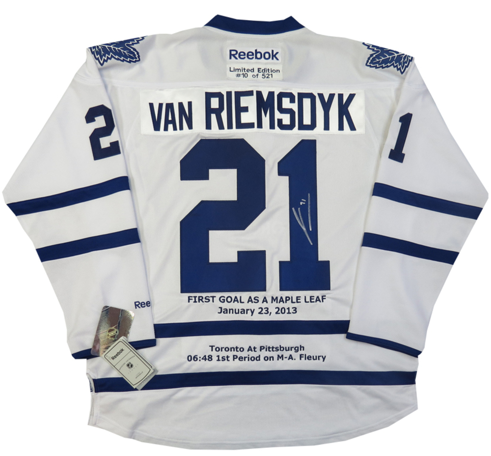 James van Riemsdyk Autographed Toronto Maple Leafs 1st Goal Away Limited Custom Embroidered Jersey