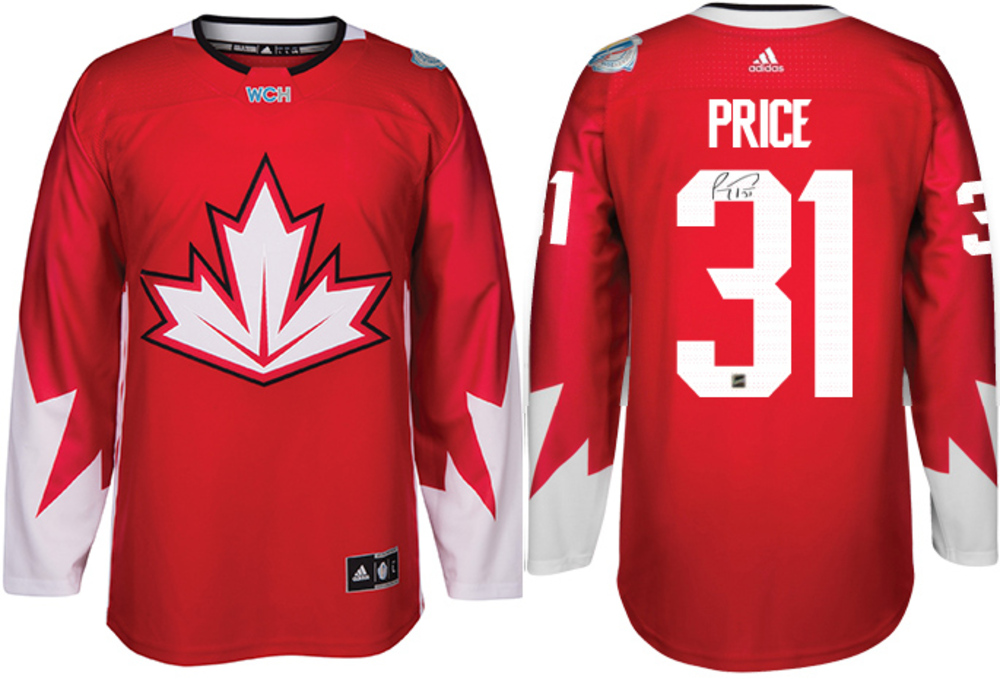 Carey Price - Signed Adidas Team Canada 2016 World Cup Jersey