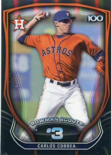 Photo of 2015 Bowman Chrome Bowman Scouts Top 100 Carlos Correa