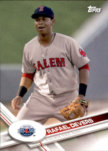 Photo of 2017 Topps Pro Debut #15 Rafael Devers -- Red Sox post-season