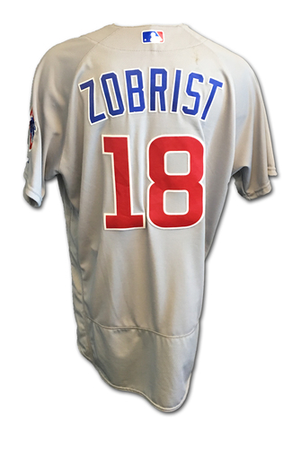 Ben Zobrist Game-Used Jersey -- Zobrist 1 for 4 -- Cubs Clinch 2017 NL Central Division -- Cubs at Cardinals -- 9/27/17