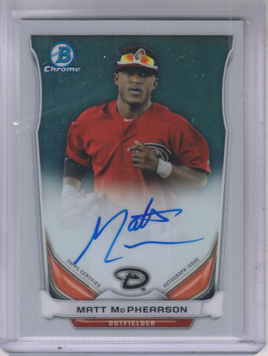 Photo of 2014 Bowman Chrome Prospect Autographs #BCAPMMC Matt McPhearson