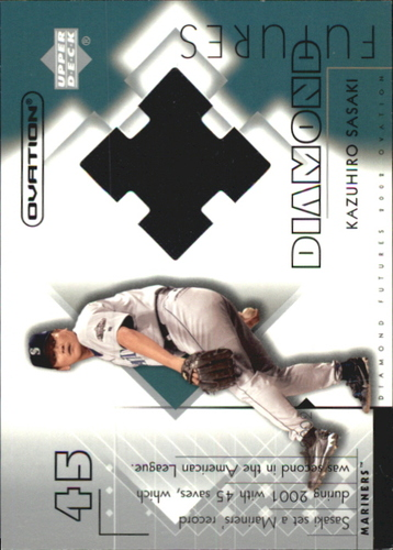 Photo of 2002 Upper Deck Ovation Diamond Futures Jerseys #DFKS Kazuhiro Sasaki
