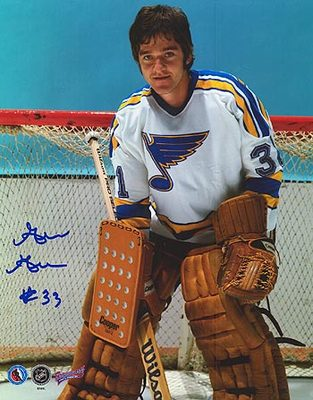 GILLES GRATTON St. Louis Blues SIGNED 8x10 Photo