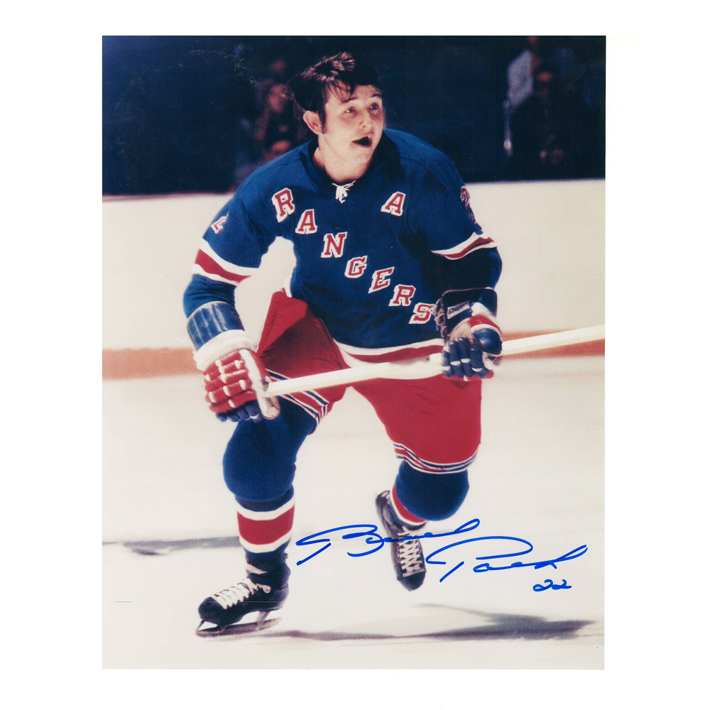 BRAD PARK Signed New York Rangers 8 X 10 Photo - 70062