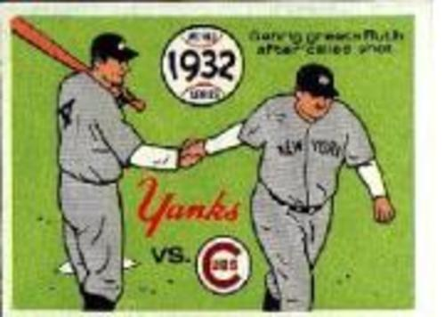 Photo of 1970 Fleer Laughlin World Series Blue Backs #29 1932 Yankees/Cubs/(Babe Ruth/and Lou Gehrig)