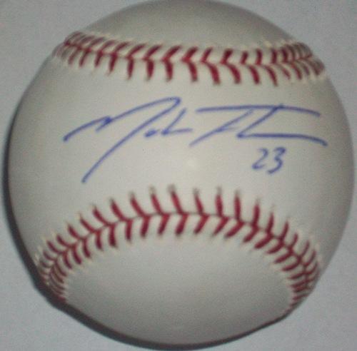 Photo of Mark Teahen Autographed Baseball