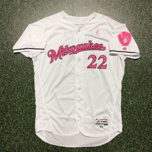 Photo of Matt Garza 2017 Mother's Day Tribute Game-Used Jersey