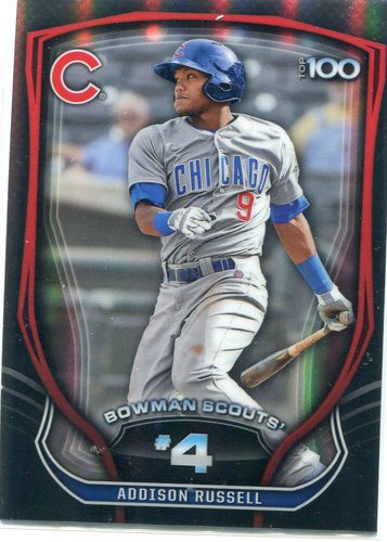 Photo of 2015 Bowman Chrome Bowman Scouts Top 100 Addison Russell