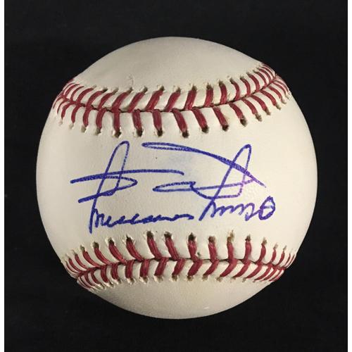 Photo of Minnie Minoso Autographed Baseball