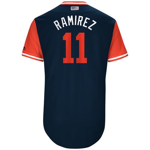 """Photo of Jose """"Ramirez"""" Ramirez Cleveland Indians Game-Used Players Weekend Jersey"""