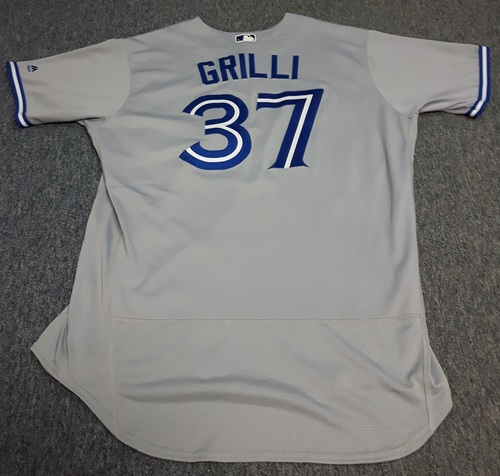Photo of Authenticated Game Used Jersey - #37 Jason Grilli (April 6, 2017: 0.2 IP with 0 ER and 2 Ks. 1st Save of the Season). Size 50.
