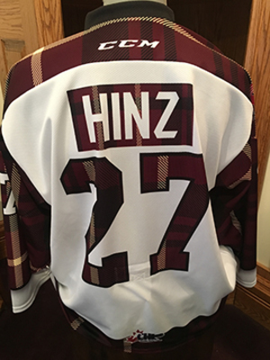 Brady Hinz (#27) - Game-Worn #PetesPlaidNight Jersey