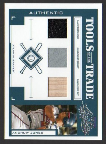 Photo of 2004 Absolute Memorabilia Tools of the Trade Material Trio #12 Andruw Jones A/50