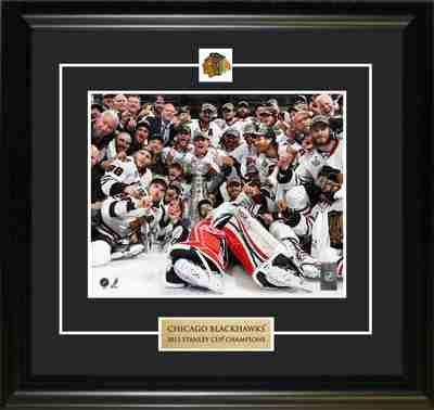 2013 Stanley Cup Champions Chicago Blackhawks Team Celebration Pin & Plate