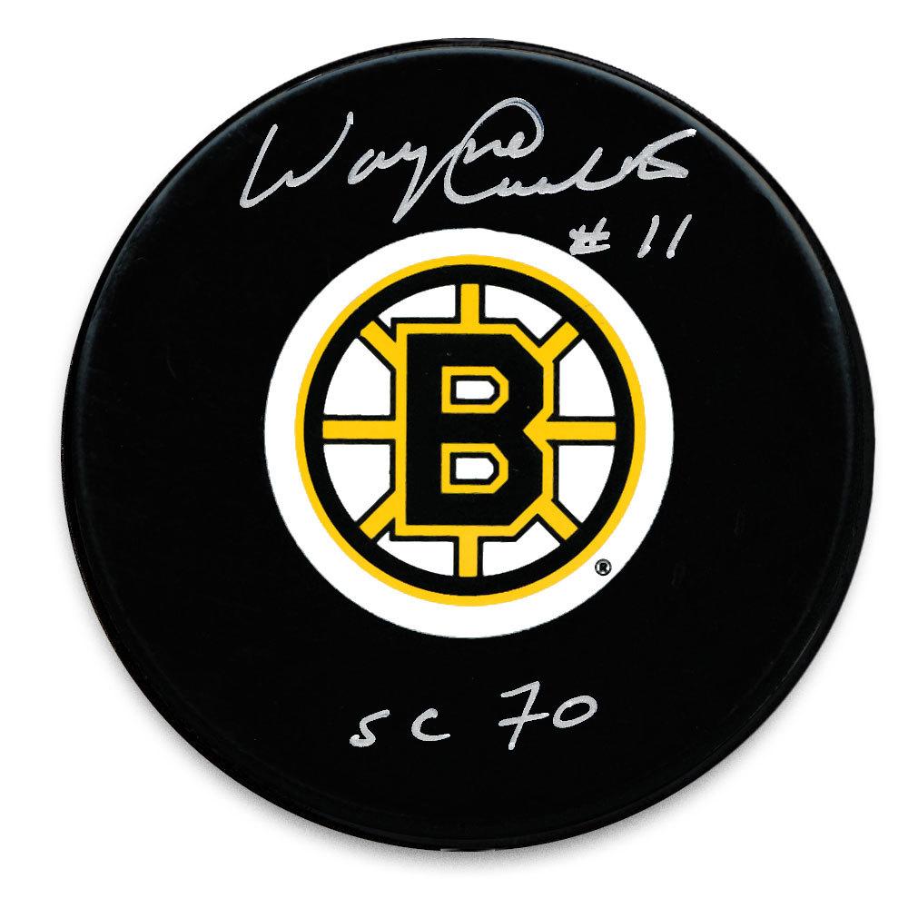Wayne Carleton Boston Bruins Autographed Puck