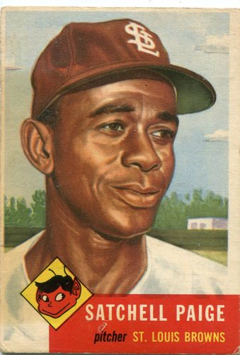 Photo of 1953 Topps #220 Satchel Paige -- St. Louis Browns Hall of Famer
