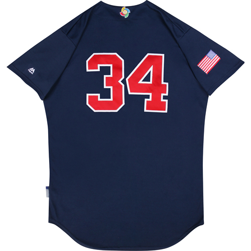 Photo of 2017 WBC: USA Game-Used Batting Practice Jersey, Drew Smyly #34