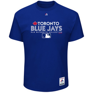 Toronto Blue Jays Authentic Collection Team Drive T-shirt by Majestic