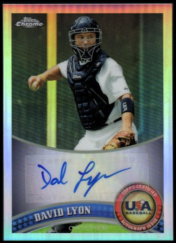 Photo of 2011 Topps Chrome USA Baseball Autographs Refractors #USABB12 David Lyon