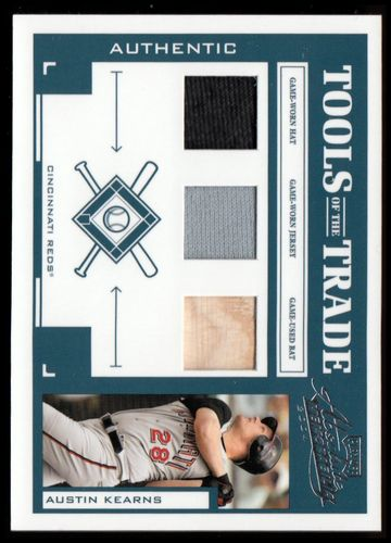 Photo of 2004 Absolute Memorabilia Tools of the Trade Material Trio #17 Austin Kearns/100