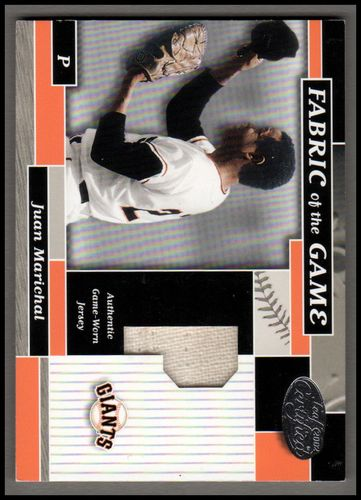 Photo of 2002 Leaf Certified Fabric of the Game #49PS Juan Marichal 08/15