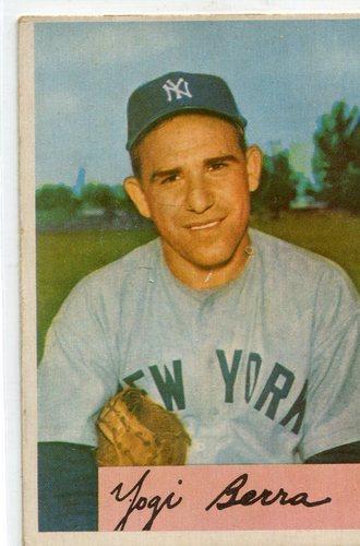 Photo of 1954 Bowman #161 Yogi Berra -- Yankees Hall of Famer