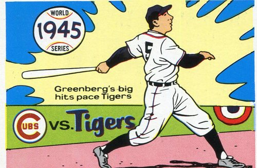Photo of 1970 Fleer Laughlin World Series Blue Backs #42 1945 Tigers/Cubs/(Hank Greenberg)