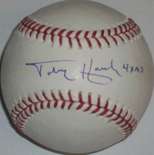 "Photo of Toby Harrah ""4x AS"" Autographed Baseball"
