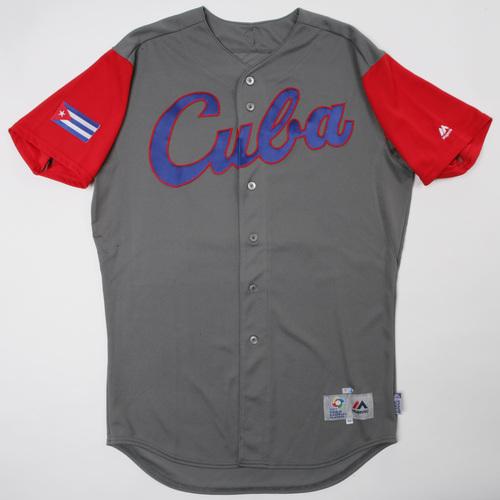 Photo of 2017 World Baseball Classic: Cuba Game-Used Road Jersey, Cepeda #24
