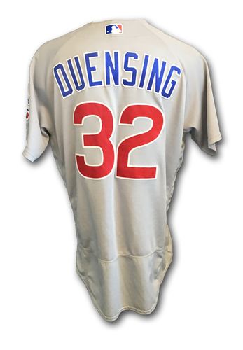 Brian Duensing Game-Used Jersey -- Cubs Clinch 2017 NL Central Division -- Cubs at Cardinals -- 9/27/17