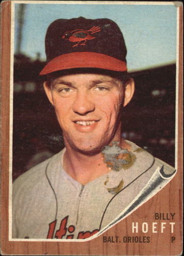 Photo of 1962 Topps #134A Billy Hoeft/Blue Sky