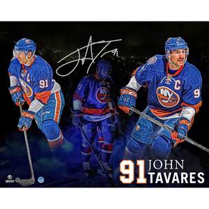 John Tavares Signed #91 New York Islanders Multi-Exposure 16x20 Photo