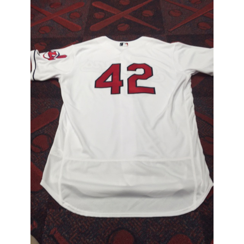 Photo of Michael Brantley Team-Issued 2016 #42 Jersey