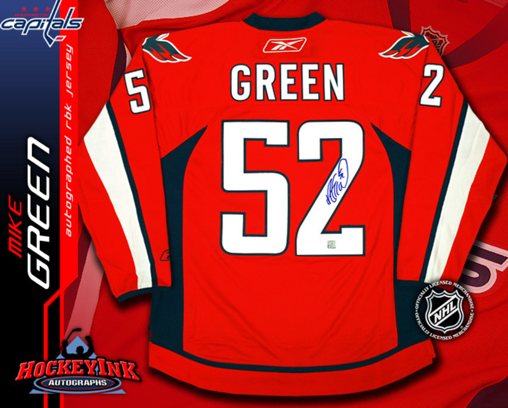MIKE GREEN Signed RBK Premier Washington Capitals Red Jersey