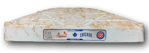 Photo of Game-Used 2nd Base -- Innings 5 through 9 -- Arrieta 14th Win (5.2 IP, 1 ER, 6 K), Szczur, Soler, Baez Hit Home Runs -- Cardinals vs. Cubs -- 8/12/16