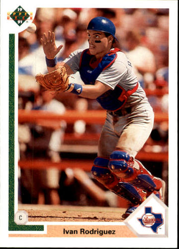 Photo of 1991 Upper Deck Final Edition #55F Ivan Rodriguez rookie card -- Newest HOFer